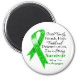 Kidney Cancer Support Strong Survivor Fridge Magnets