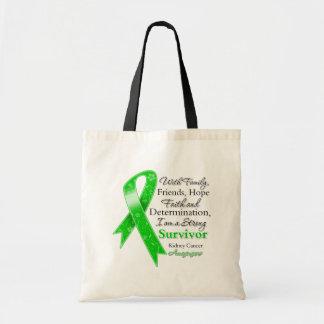 Kidney Cancer Support Strong Survivor Budget Tote Bag