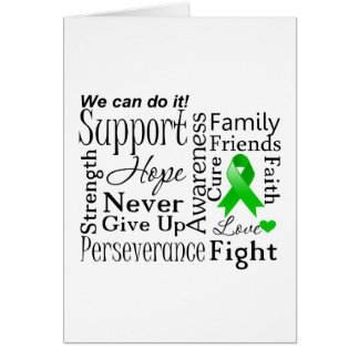 Kidney Cancer Supportive Words (Green) Card