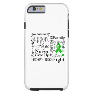 Kidney Cancer Supportive Words (Green) Tough iPhone 6 Case