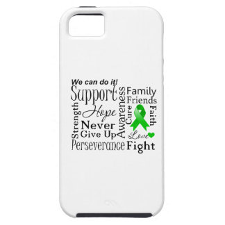 Kidney Cancer Supportive Words (Green) iPhone 5 Case