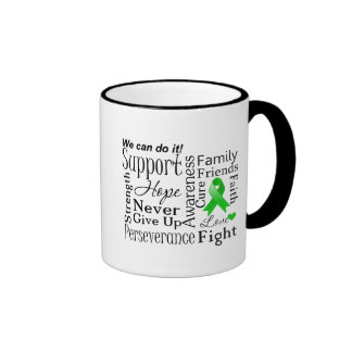 Kidney Cancer Supportive Words (Green) Mug