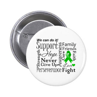 Kidney Cancer Supportive Words Green Pins