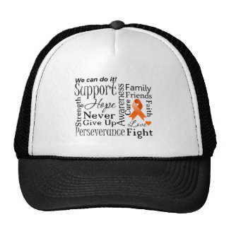 Kidney Cancer Supportive Words Trucker Hat