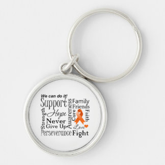 Kidney Cancer Supportive Words Key Chains