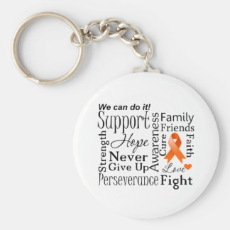 Kidney Cancer Supportive Words Basic Round Button Key Ring