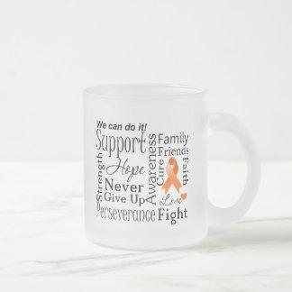Kidney Cancer Supportive Words Mug