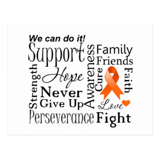 Kidney Cancer Supportive Words Postcard