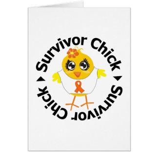 Kidney Cancer Survivor Chick Greeting Card