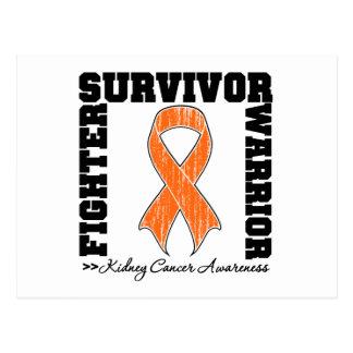 Kidney Cancer Survivor Fighter Warrior Postcard