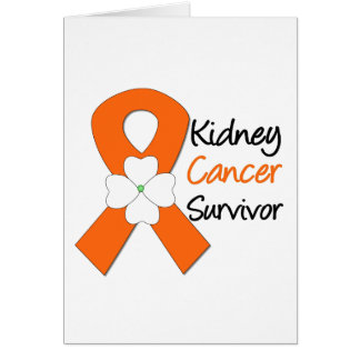 Kidney Cancer Survivor Flower Greeting Card