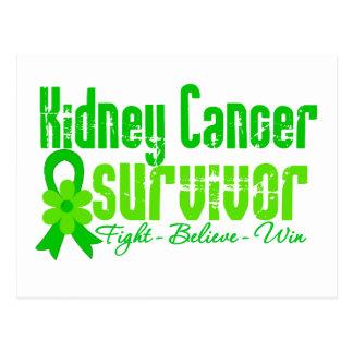 Kidney Cancer Survivor Flower Ribbon Postcard