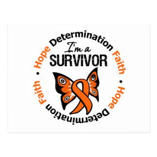 Kidney Cancer Survivor Hope Determination Faith Postcard