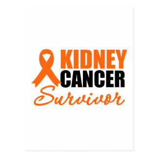 Kidney Cancer SURVIVOR Ribbon Postcard