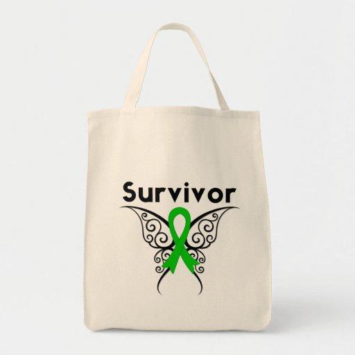 Kidney Cancer Survivor Tribal Butterfly Tote Bag