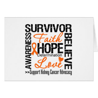 Kidney Cancer Survivors Motto Greeting Card