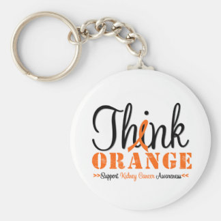 Kidney Cancer THINK ORANGE Awareness Keychain