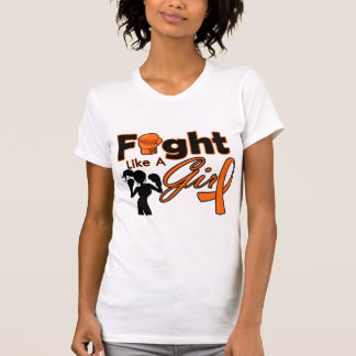 Kidney Cancer v2 Fight Like A Girl Silhouette T Shirts
