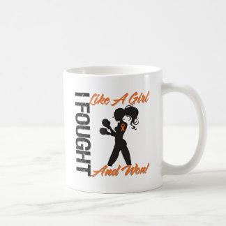Kidney Cancer v2 I Fought Like A Girl and Won Coffee Mugs