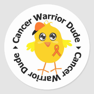 Kidney Cancer Warrior Dude 2 Stickers
