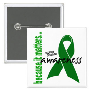 Kidney Disease Awareness 15 Cm Square Badge