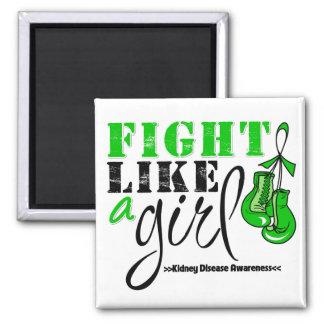 Kidney Disease Awareness Fight Like a Girl Fridge Magnet