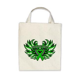 Kidney Disease Awareness Heart Wings.png Canvas Bags