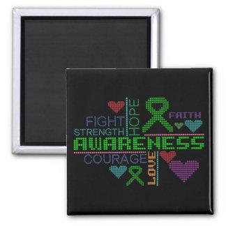 Kidney Disease Colorful Slogans Fridge Magnets