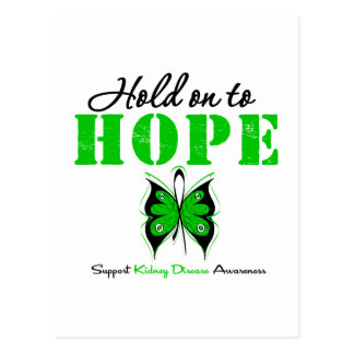 Kidney Disease Hold On To Hope Postcard