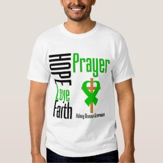 Kidney Disease Hope Love Faith Prayer Cross T Shirts