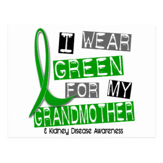 Kidney Disease I Wear Green For My Grandmother 37 Postcard