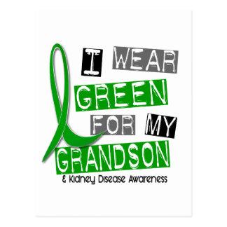 Kidney Disease I Wear Green For My Grandson 37 Postcard