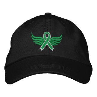Kidney Disease Ribbon Wings Embroidered Baseball Cap
