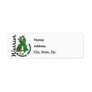 Kidney Disease Warrior 15 Return Address Label