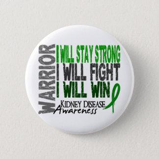 Kidney Disease Warrior 6 Cm Round Badge