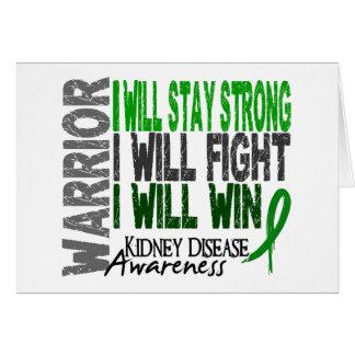 Kidney Disease Warrior Greeting Card