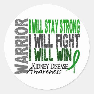Kidney Disease Warrior Classic Round Sticker