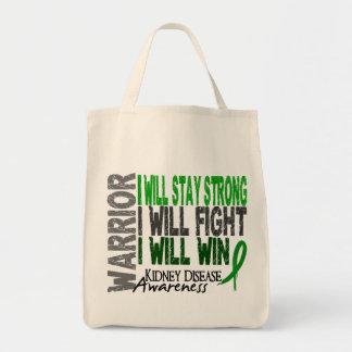 Kidney Disease Warrior Grocery Tote Bag