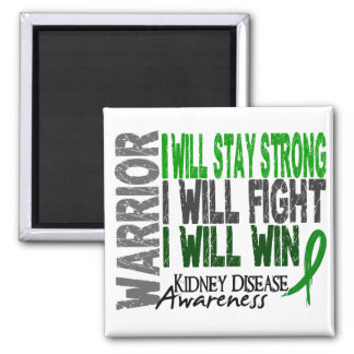 Kidney Disease Warrior Square Magnet