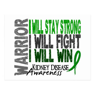 Kidney Disease Warrior Postcard