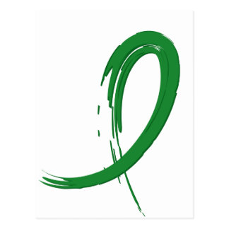 Kidney Disease's Green Ribbon A4 Postcard