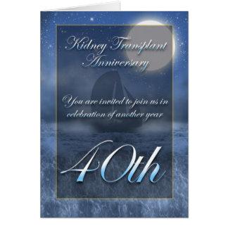 Kidney Transplant Anniversary Party Invitation Greeting Card