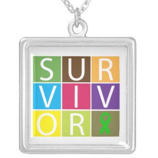 Kidney Transplant Survivor Colorful Tiles Jewelry