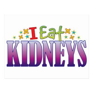 Kidneys I Eat Postcard