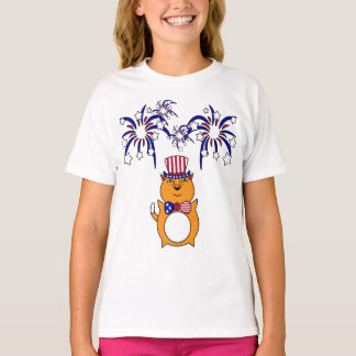 Kid's 4th of July Happy Cat Shirt