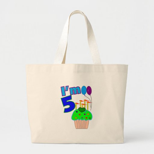 Kids 5 year old Birthday shirts and gifts Bag