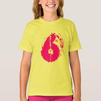 Kids 6th Birthday shirt | Number six in neon prink