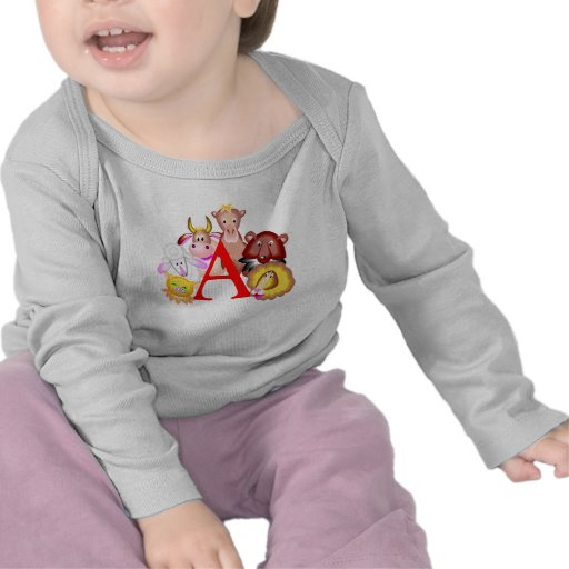Kids A Is For Animals T Shirt