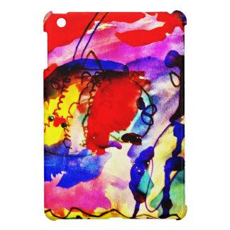 Kids Abstract Art Rainbow Fish in Colorful Sea iPad Mini Covers