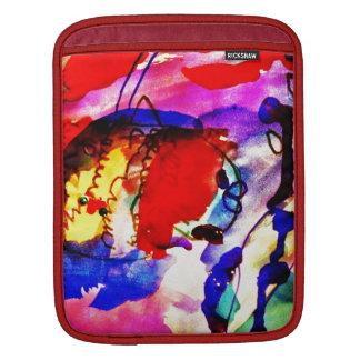 Kids Abstract Art Rainbow Fish in Colorful Sea iPad Sleeve